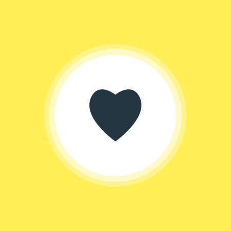 Beautiful Web Element Also Can Be Used As Love Element. Vector Illustration Of Heart Icon. Illustration