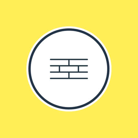be: Beautiful Industry Element Also Can Be Used As Barrier Element. Vector Illustration Of Brick Wall Outline.