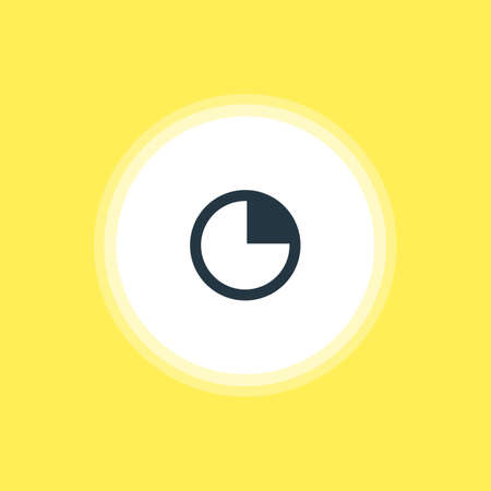 Beautiful Interface Element Also Can Be Used As Stopwatch  Element. Vector Illustration Of Timer Icon.