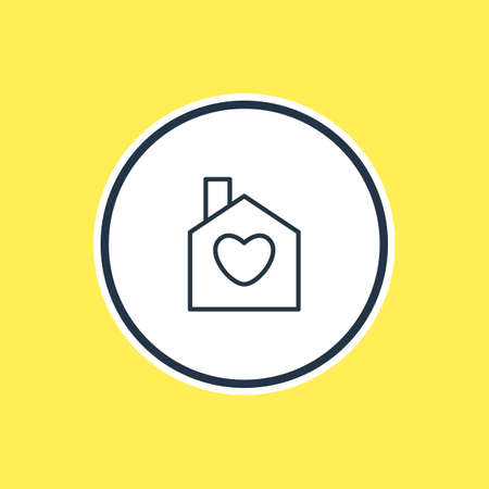 Vector Illustration Of House Outline. Beautiful Passion Element Also Can Be Used As Home  Element.