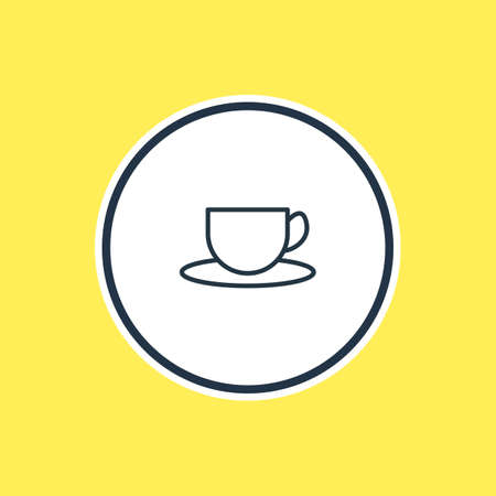 be: Beautiful Eating Element Also Can Be Used As Tea Element. Vector Illustration Of Cup Outline.