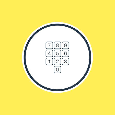 numpad: Beautiful Laptop Element Also Can Be Used As Number Keypad Element. Vector Illustration Of Numpad Outline.
