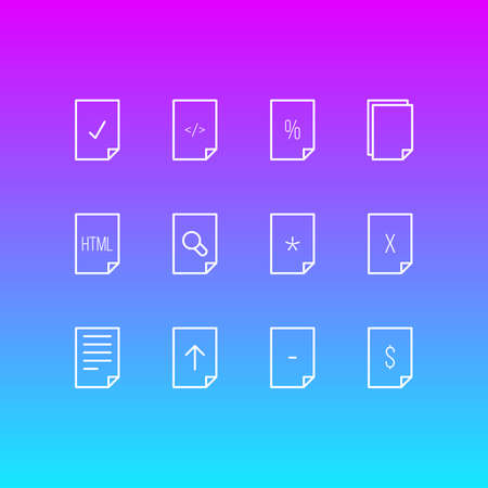 alright: Editable Pack Of Copy, Document, Remove And Other Elements. Vector Illustration Of 12 Page Icons.