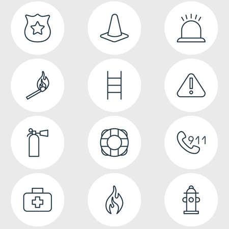necessity: Editable Pack Of Water, Exclamation, Burn And Other Elements. Vector Illustration Of 12 Necessity Icons.