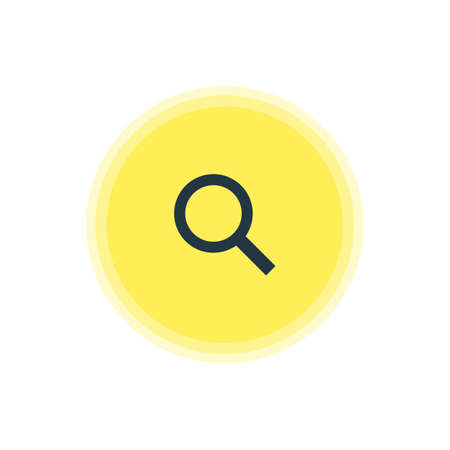 be: Vector Illustration Of Search Icon. Beautiful Member Element Also Can Be Used As Magnifier Element. Illustration