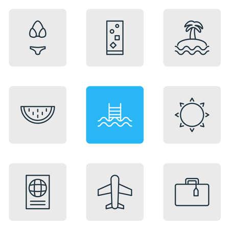documentation: Icon set of travel Illustration