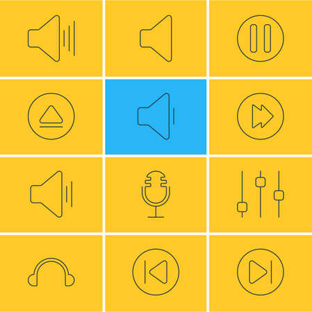 Vector Illustration Of Audio Icons.