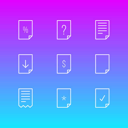 Vector Illustration Of Document Icons.