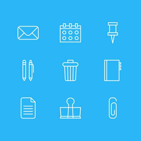junk: Vector Illustration Of Stationery Icons. Illustration