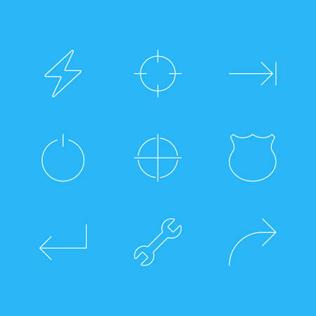 focalize: Vector Illustration Of UI Icons. Illustration