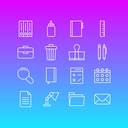 Vector Illustration Of Stationery Icons. Illustration