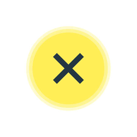 Vector Illustration Of Cancel Icon. Beautiful Member Element Also Can Be Used As Wrong  Element.