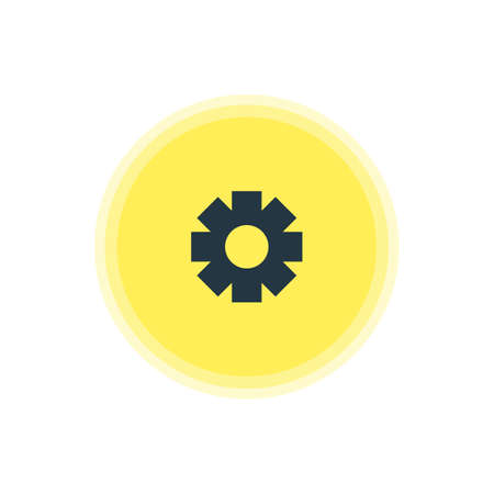 be: Beautiful Internet Element Also Can Be Used As Gear Element. Vector Illustration Of Settings Icon.