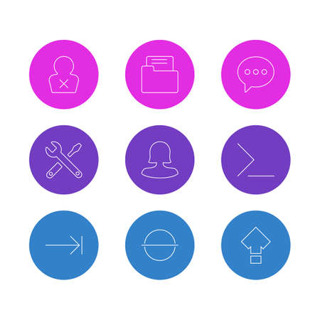 Editable Pack Of Startup, Maintenance, Remove And Other Elements. Vector Illustration Of 9 Interface Icons.