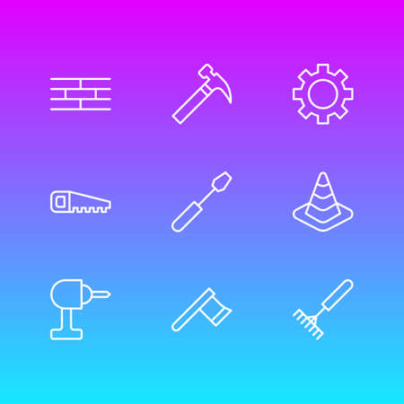 Vector Illustration Of Construction Icons.