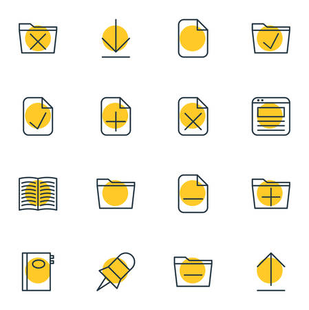 Vector Illustration Of Bureau Icons.
