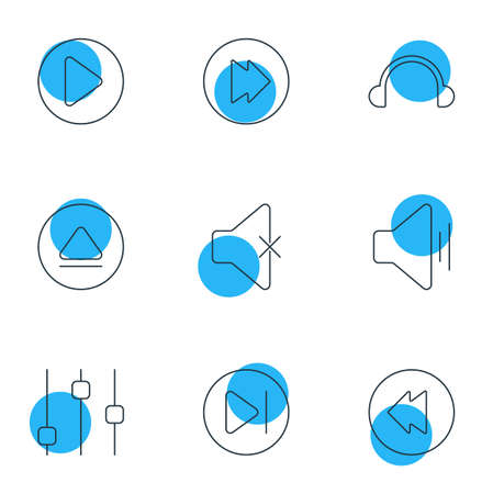 eject icon: Editable Pack Of Advanced, Start, Soundless And Other Elements.  Vector Illustration Of 9 Melody Icons.