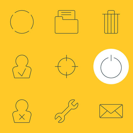 Editable Pack Of Repeat, Dossier, Screen Capture And Other Elements.  Vector Illustration Of 9 UI Icons.