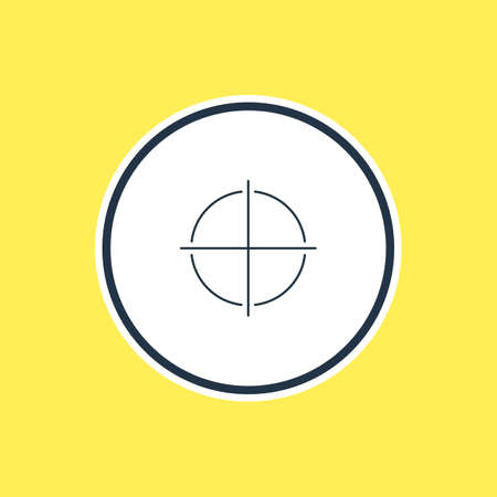 focalize: Beautiful UI Element Also Can Be Used As Positive Element.  Vector Illustration Of Focus Outline. Illustration