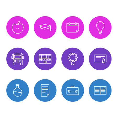 Vector Illustration Of 12 Studies Icons. Editable Pack Of Trophy, Diploma, Paper And Other Elements.