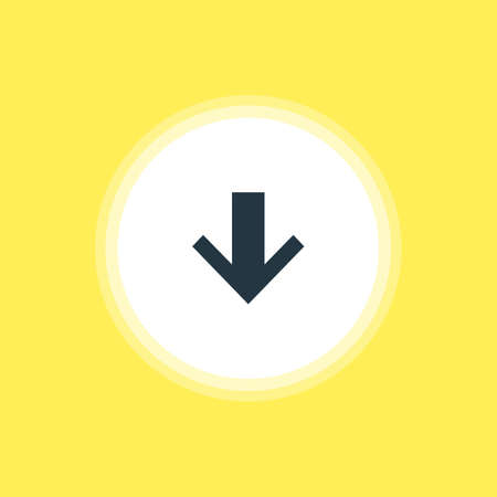 Vector Illustration Of Down Icon. Beautiful Member Element Also Can Be Used As Downward Element. Illustration