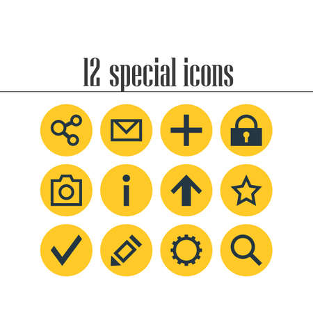 12: Editable Pack Of Confirm, Publish, Pen And Other Elements.  Vector Illustration Of 12 User Icons.