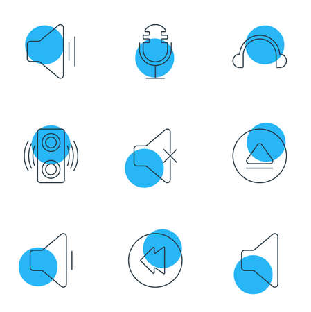 Editable Pack Of Audio, Soundless, Speaker And Other Elements.  Vector Illustration Of 9 Melody Icons.