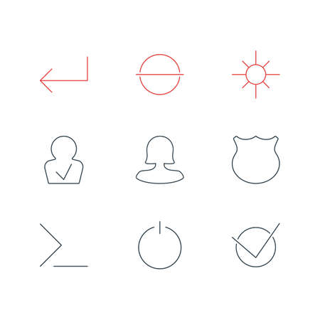 Vector Illustration Of 9 User Icons. Editable Pack Of Remove, Accsess, Startup And Other Elements. Illustration
