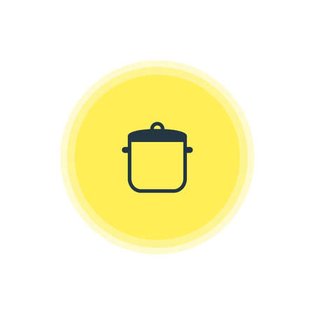 browning: Beautiful Kitchenware Element Also Can Be Used As Soup Pan Element.  Vector Illustration Of Saucepan Icon. Illustration