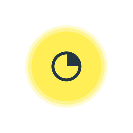 Vector Illustration Of Timer Icon. Beautiful Interface Element Also Can Be Used As Stopwatch  Element.