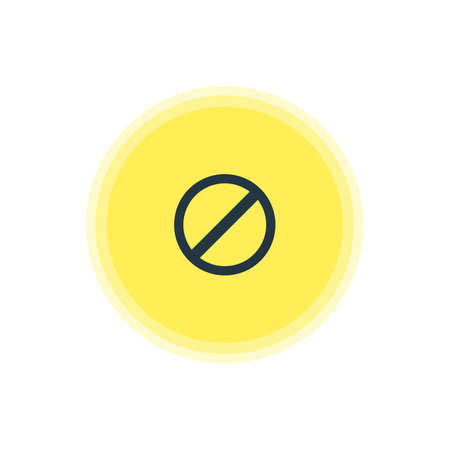 Vector Illustration Of Blocked Icon. Beautiful Member Element Also Can Be Used As Access Denied  Element.