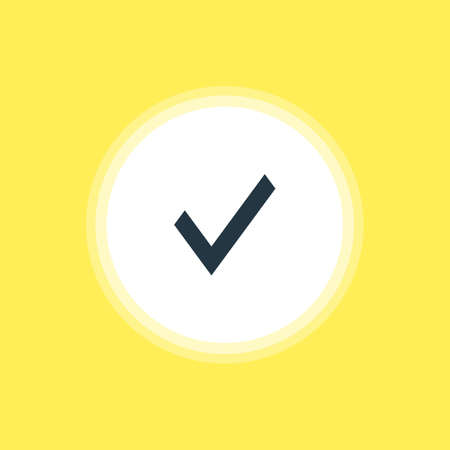 Vector Illustration Of Approve Icon. Beautiful Member Element Also Can Be Used As Confirm Element.