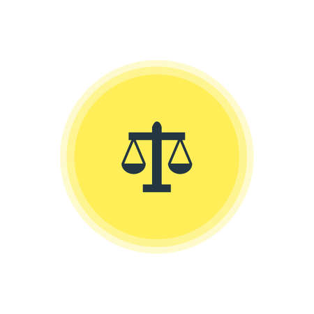Vector Illustration Of Law Icon. Beautiful Location Element Also Can Be Used As Scales Element.
