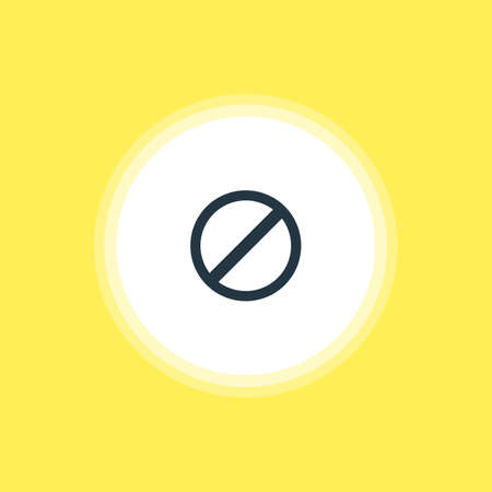 Vector Illustration Of Blocked Icon. Beautiful User Element Also Can Be Used As Access Denied  Element. Illustration