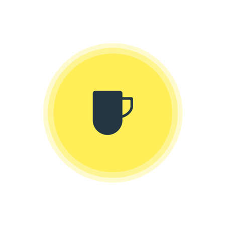 Vector Illustration Of Coffee Mug Icon. Beautiful Kitchenware Element Also Can Be Used As Tea Cup Element.