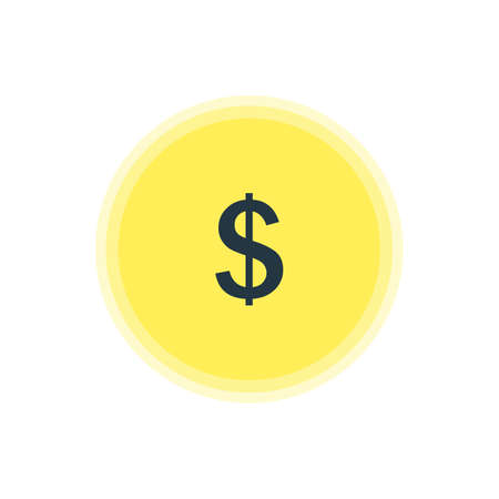Vector Illustration Of Earning Icon. Beautiful Interface Element Also Can Be Used As Money Making Element. Illustration