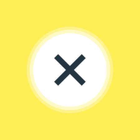 Vector Illustration Of Cancel Icon. Beautiful Interface Element Also Can Be Used As Wrong  Element.