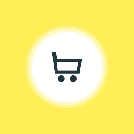 Vector Illustration Of Trading Cart Icon. Beautiful User Element Also Can Be Used As Wheelbarrow Element.