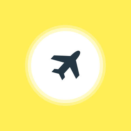 Vector Illustration Of Airplane Icon. Beautiful Location Element Also Can Be Used As Aircraft Element.