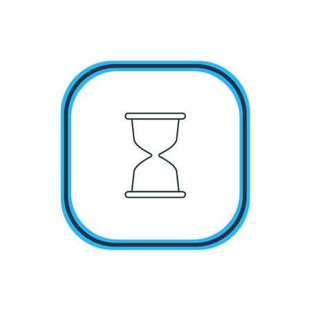 wap: Beautiful Network Element Also Can Be Used As Sandglass Element.  Vector Illustration Of Hourglass Outline.