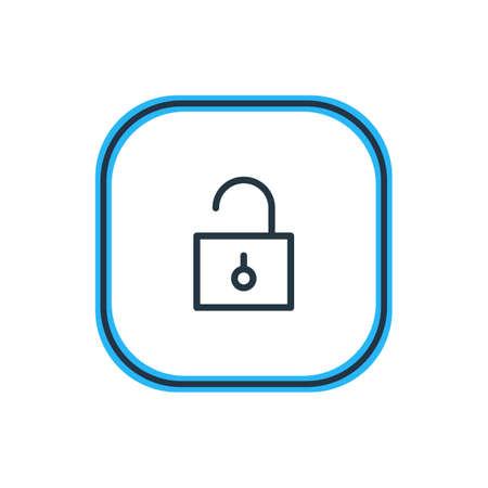 Unlock illustration. 向量圖像