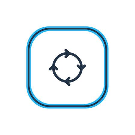 Rotating arrow icon.
