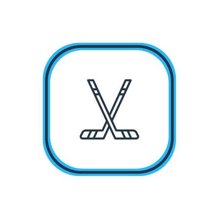 ice: Sticks icon concept.