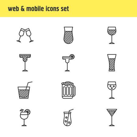 Drinks icon concept.