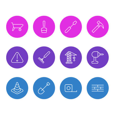 Construction icon concept. Illustration