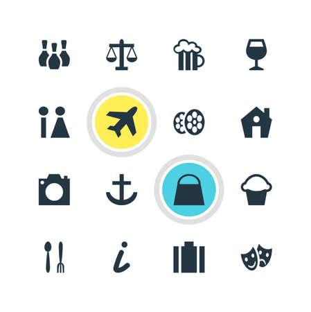 map pin: Travel icon concept. Illustration