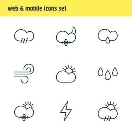 Weather icon concept. Illustration