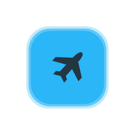 Airplane icon concept.