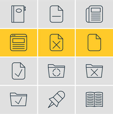 reportage: Office icon concept.