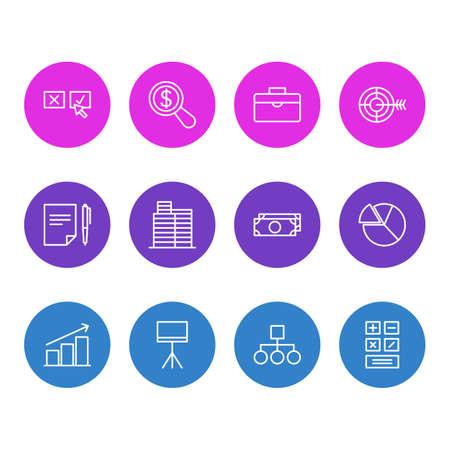 Management icon concept.